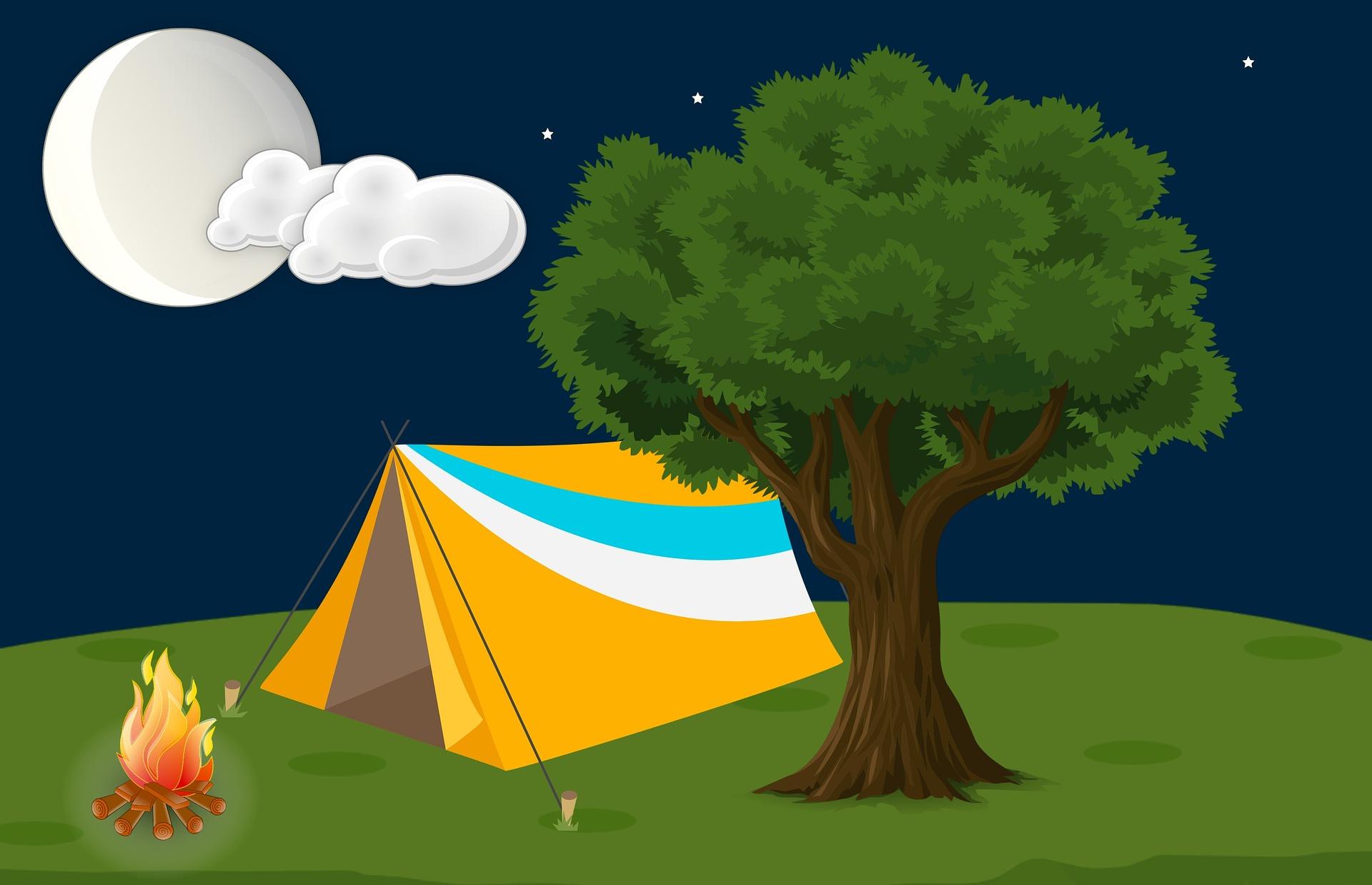テント - キャンプの際におすすめのおもしろい娯楽、ゲーム